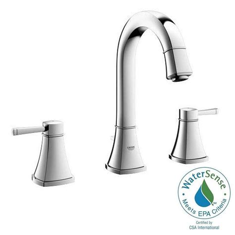 grohe kitchen sink faucets grohe grandera 8 in widespread 2 handle high arc bathroom