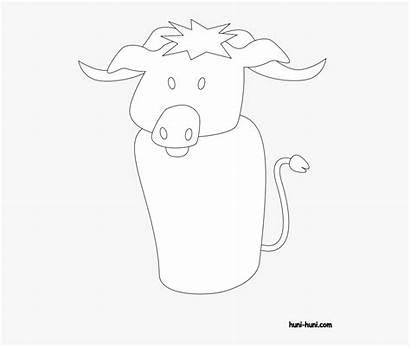 Coloring Huni Kabaw Waterbuffalo Flashcard Outline Cartoon