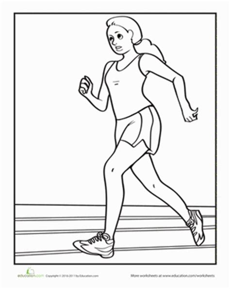 Running Coloring Pages Printable
