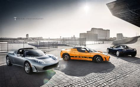 Tesla Roadster Cars Wallpaper
