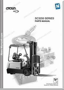 Crown Forklifts Parts Manuals Model Sc3200 Parts