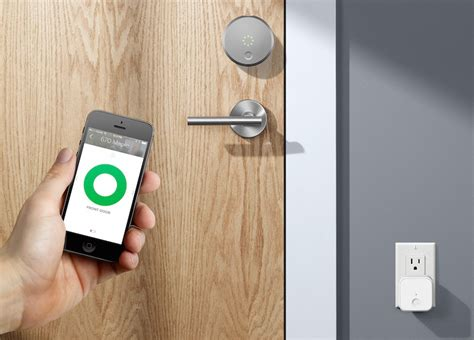august door lock august launches connect wi fi bridge to add