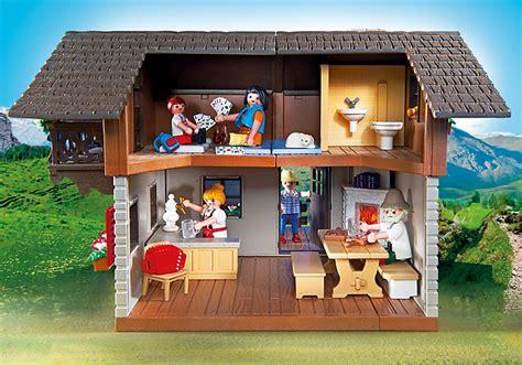 playmobil 5422 auberge de montagne et randonneurs achat vente univers miniature cdiscount