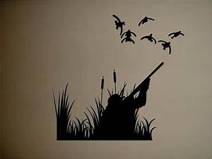 Ducks duck hunting outdoors vinyl wall decal sticker wall for Hunting wall decals