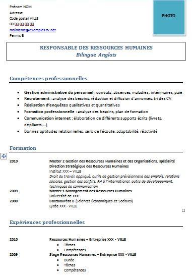 Modele Cv Ressources Humaines Gratuit Cv Anonyme Exemple Cv En Ressources Humaines Cv Anonyme