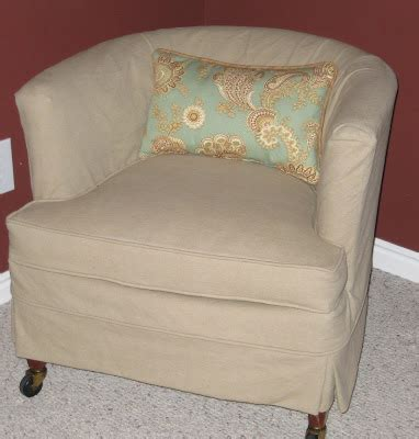barrel chair slipcovers custom slipcovers by shelley before and after of barrel chair