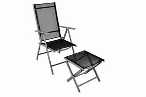 klappstuhl gartenstuhl campingstuhl liegestuhl mit hocker With whirlpool garten mit balkon klappstuhl alu