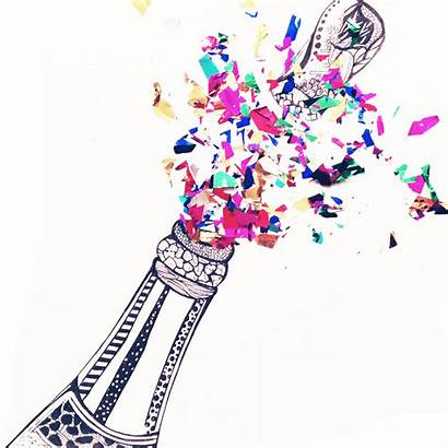 Champagne Popping Happy Pop Contemporary Designs Kelseymontagueart