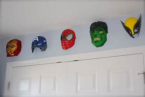 Images about boys superhero room on pinterest wall art and for Kitchen cabinets lowes with marvel superhero wall art