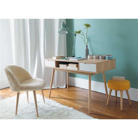 maison du monde chaise de bureau tabouret jaune vintage pinup maisons du monde