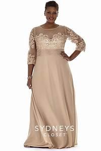 plus size formal dress sleeves sydney39s closet wedding With plus size dresses with sleeves formal wedding