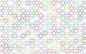 Clipart - Abstract Stars Geometric Pattern Prismatic No ...