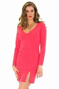 pink dress jersey dress tight dress stefanie renoma With robe moulante rose
