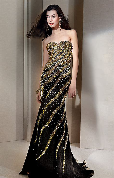 Black And Gold Evening Dress | Evening Dresses Gallery