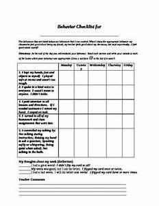 Student Self Assessment Daily Behavior Checklist by John ...