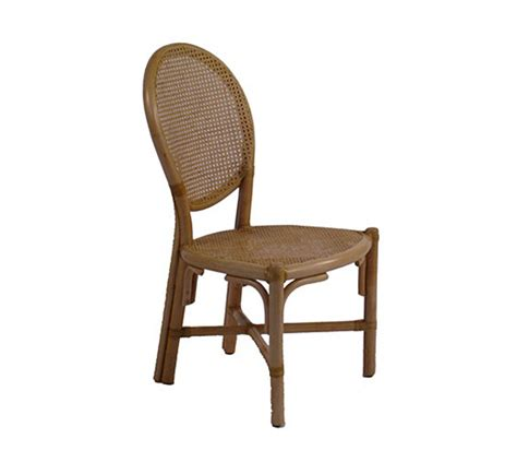 rattan oval back side chair dining chairs style