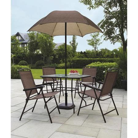 Patio Sets With Umbrella At Walmart by 25 Best Ideas About Patio Set With Umbrella On