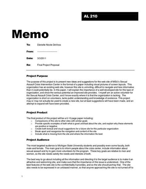 proposal memo  business