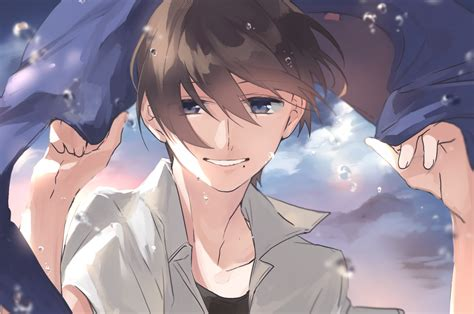 Anime Boy Smile Wallpapers Wallpaper Cave
