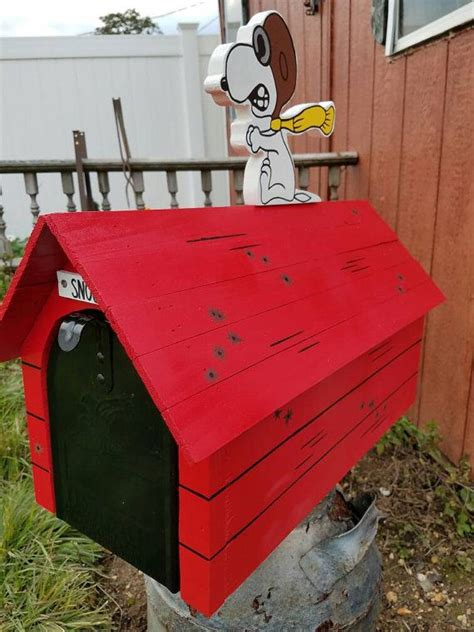 snoopy red baron mailbox mailbox included