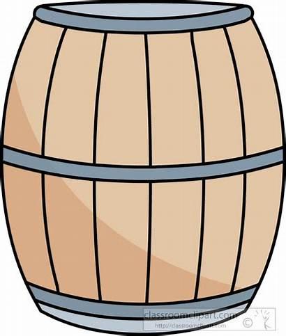 Clip Clipart Barrel Wood Objects Object Classroom