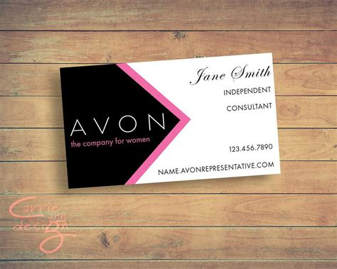 avon sales representative business card digital design etsy