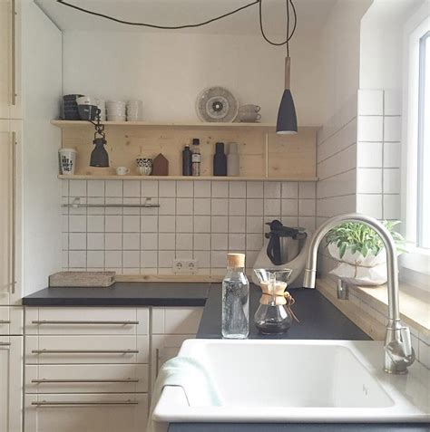 Regal Ideen Küche by Wei 223 E K 252 Chen Mit Holzarbeitsplatten Wohnkonfetti