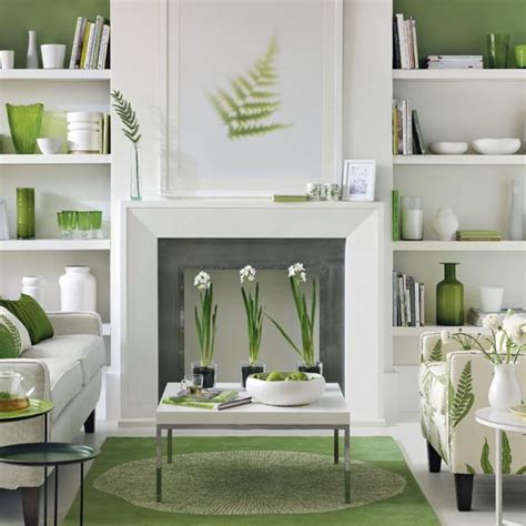white and green living room great schemes with mix and match living room chairs Modern