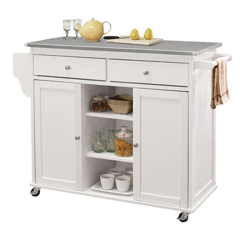 kitchen islands mobile acme tullarick stainless steel top mobile kitchen island 2076