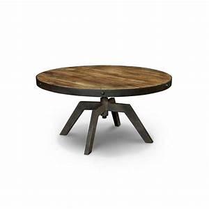 Table Basse Ronde Industrielle : arizona table basse ronde bois m tal ~ Teatrodelosmanantiales.com Idées de Décoration