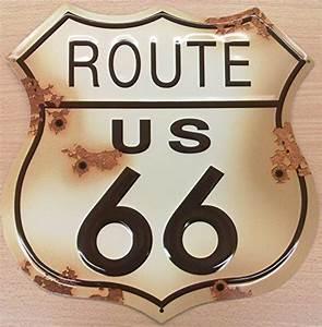 Route 66 Schild : route 66 schild verwitterten blechschild shot at ga ~ Whattoseeinmadrid.com Haus und Dekorationen