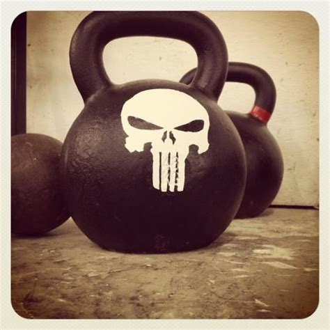 kettlebell skull kettlebells motivation painting punisher bell training fitness kettle workout quotes custom crossfit evil painted weight workouts bells face