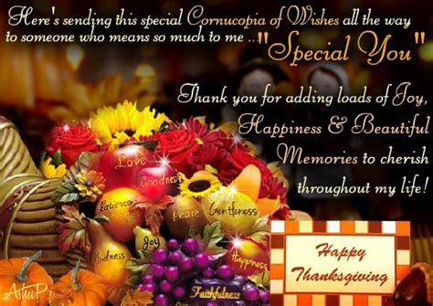 special thanksgiving wishes  specials ecards