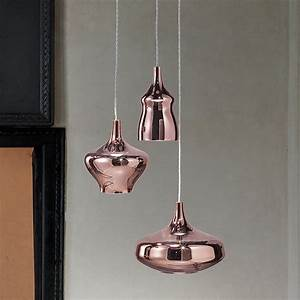 Nostalgia Lampada a sospensione di design, in vetro soffiato, LED, con 3 lampade di forma