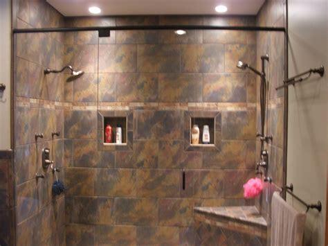 custom shower ideas custom walk in showers just needs the waterfall in the