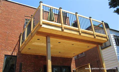 two story deck marquis patios et cl 244 tures beaulieu