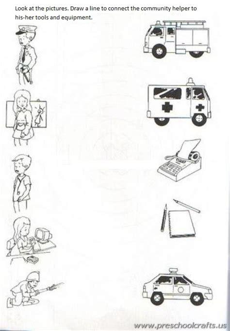 Free Printable Community Helpers Worksheets  Preschool Crafts