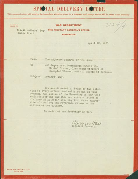 mothers day letter featured documents of the month from nara at boston 8254