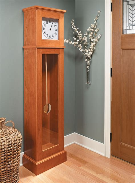 shaker style tall clock woodworking project woodsmith