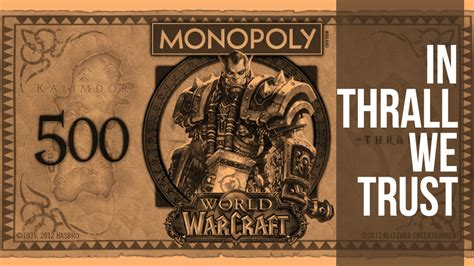 world  warcraft monopoly replaces uncle pennybags