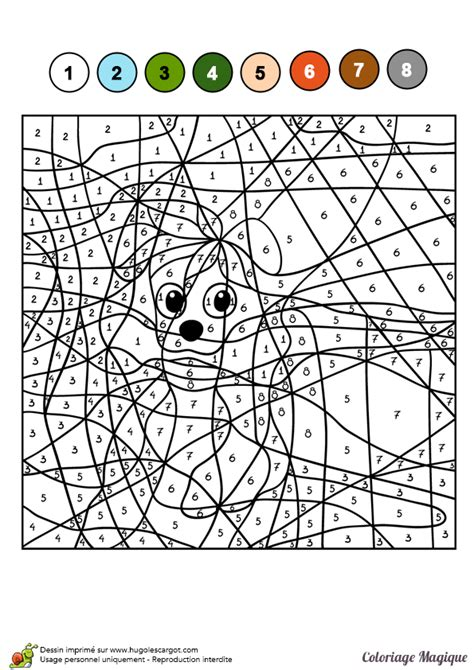 roux en cuisine dessin à colorier d un coloriage magique cm2 un petit chien