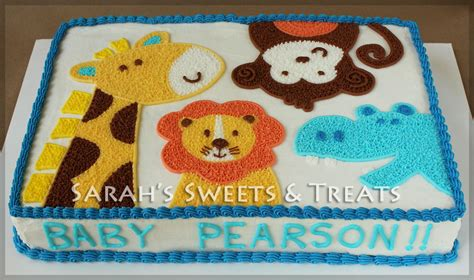 Zoo Baby Shower Cakes