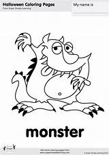 Monster Coloring Halloween Flashcards Pages Super Worksheets Friends Goodbye Simple Kindergarten Crafts Supersimple Resource Learning Songs Monkey Printables Song Resources sketch template