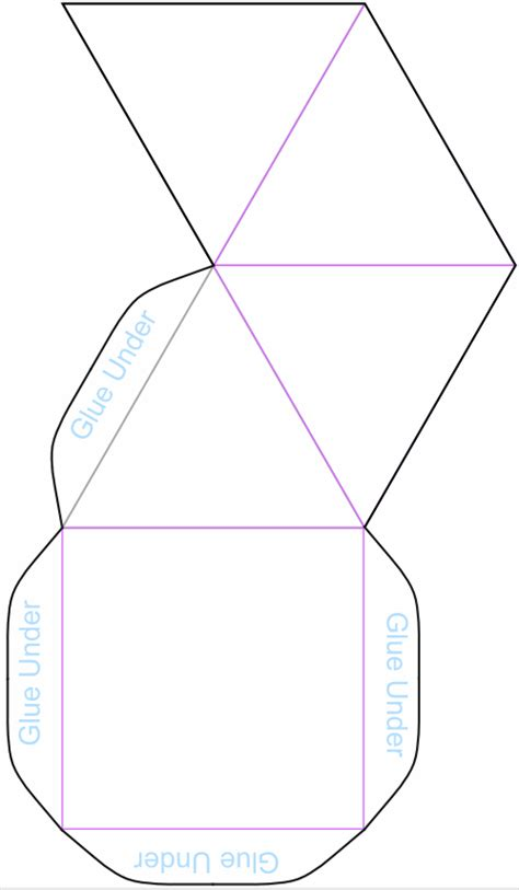 Square Pyramid Model Template