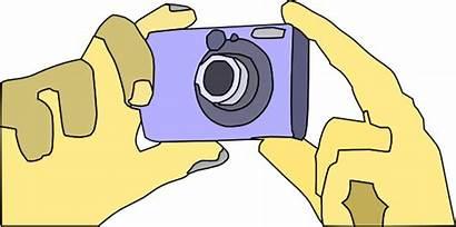 Camera Clip Digital Clipart Holding Vector Dslr