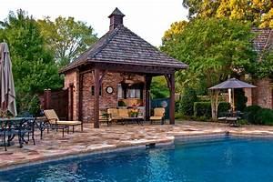 pool-cabana-ideas-Pool-Traditional-with-beam-brick-cape