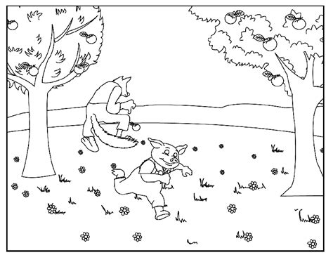 The Three Little Pigs Story Coloring Pages Coloring Home
