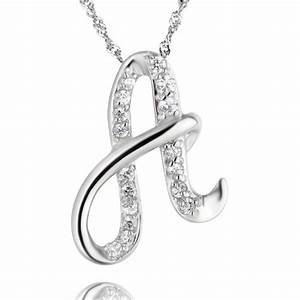 necklace pendants valentine39s day gift lovers crystal With necklaces for women with letters