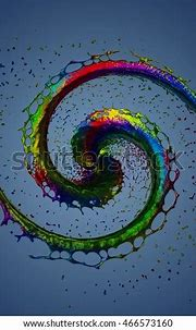 7 Color Chakra Symbol Spiral Concept Stock Illustration ...