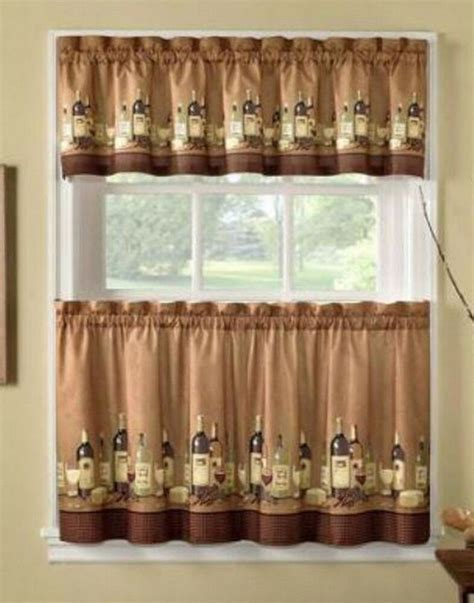 wine bottle curtains wines wine bottles tuscany 36l tiers valance kitchen